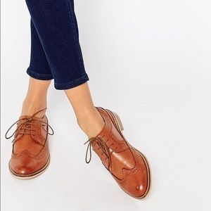 Asos MAI Brown Leather Oxford Brogues
